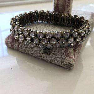 J. Crew Jewelry - 🔥JCrew Tri-layered Crystal Stretch Bracelet 🔥